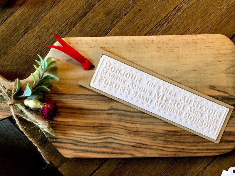 French Embossing Bookmark -