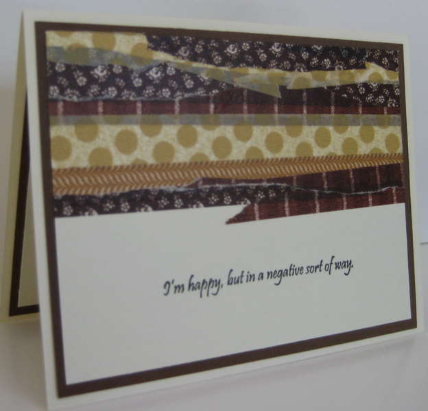 My first, but my my last, Washi Tape card