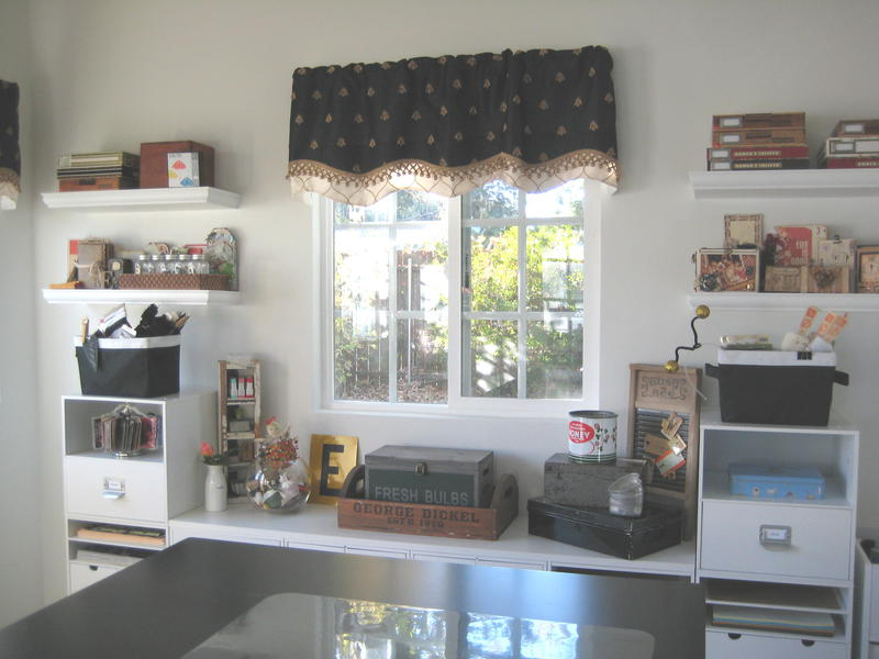Valances Hung by the Husband