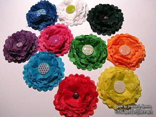Handmade Embellishments - Paper Flowers