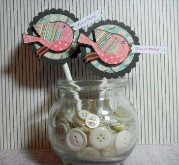 Tweet Baby cupcake toppers