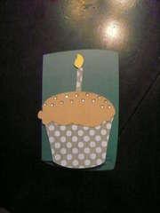 16th Birthday Cupcake Card