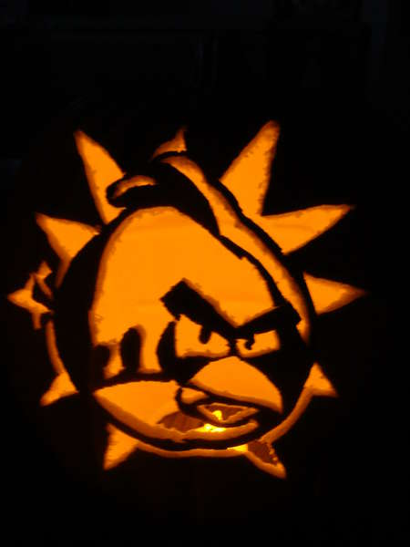 ugly bird pumpkin 1