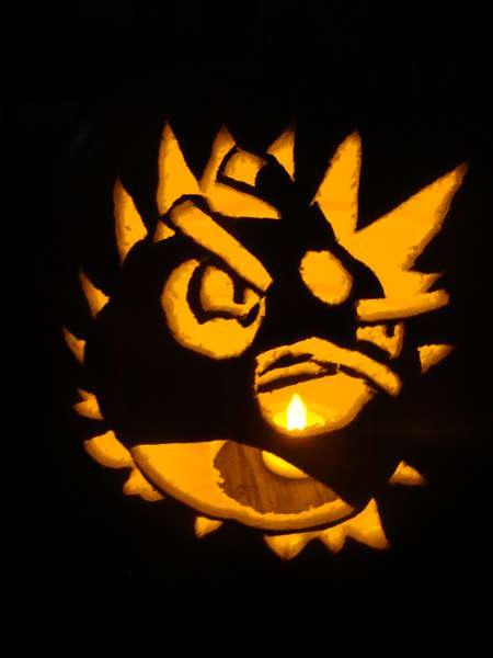 angry bird pumpkin 4