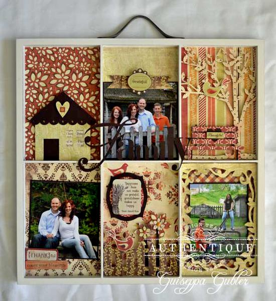 Family Altered Painter's Tray *Authentique*