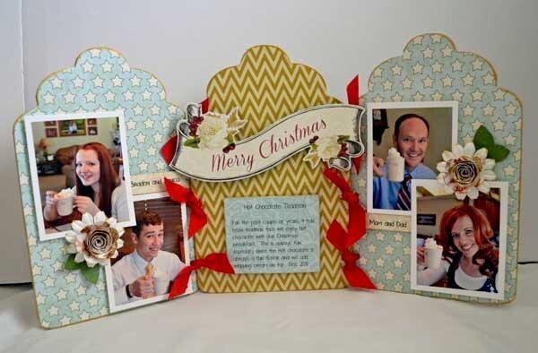 Merry Christmas Tri Fold Frame *Clear Scraps*