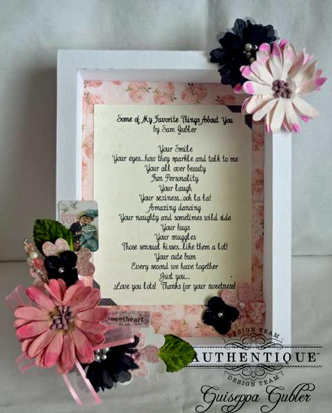 Lovely Shadow Box Frame *Authentique*