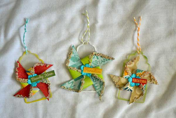 Sandy Pinwheel Clear Tags *Clear Scraps Monthly Kit*