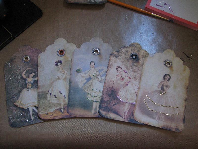 paper sisters Swap - Vintage Tags