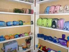 Close up of opened shelf