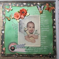 Layout using Bo Bunny Pincushion