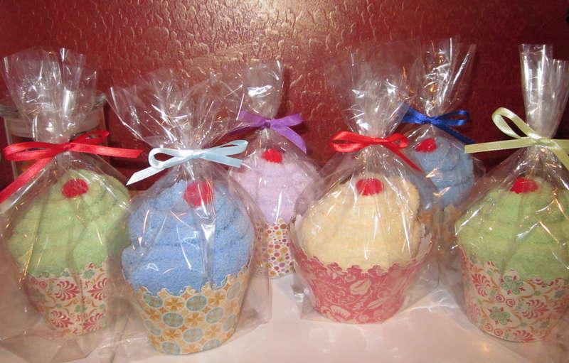 Spa Sock Cupcakes