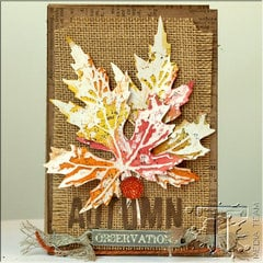 Autumn Accordion Booklet by Media Team Member Anna-Karina