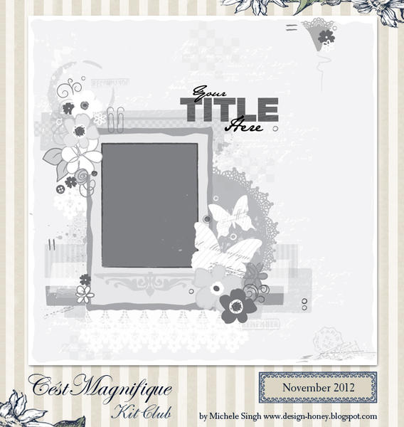 sketch for Cest Magnifique Kits, November