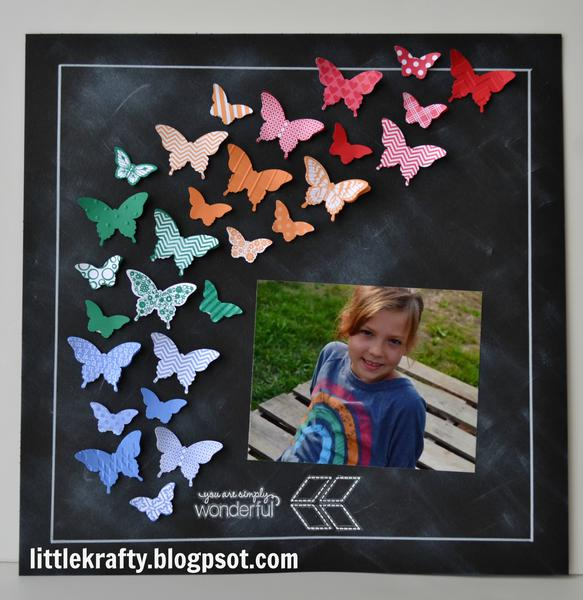 Butterflies and Chalkboard