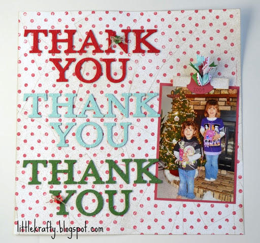 Thank You Christmas Layout