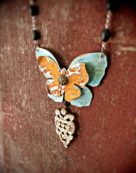 Graphic 45 Butterfly Necklace