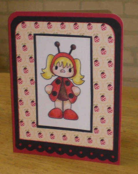 Ladybug Girl Notecard for OWH