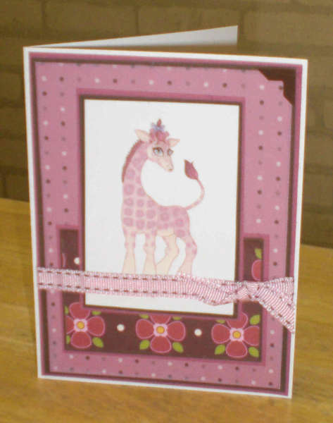 Pink Giraffe Card for OWH