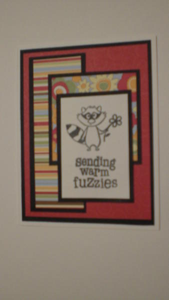 "Racoon ""Sending Warm Fuzzies"" Card for OWH"