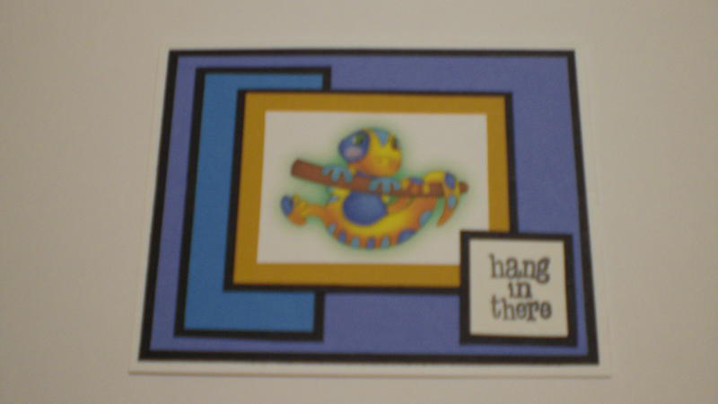 "Quirky Lizard ""Hang In There"" Card for OWH"