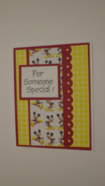 """Mickey Mouse """"For Someone Special!"""" Card for OWH"""