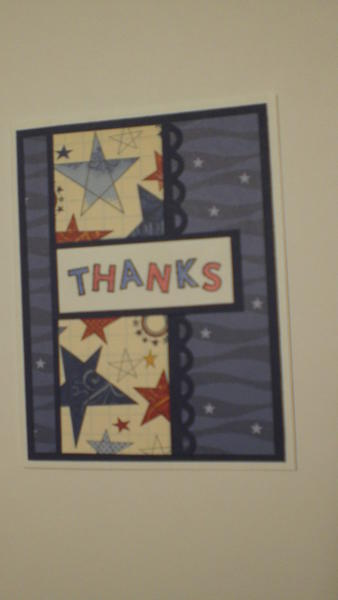 """Thanks"" Card for OWH"