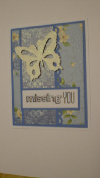 "Butterfly ""Missing You"" Card for OWH"