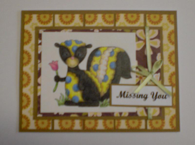 "Quirky Skunk ""Missing You"" Card for OWH"