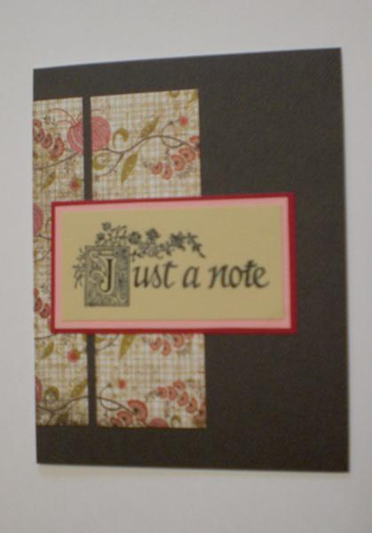 """""""Just A Note"""" Card for OWH"""