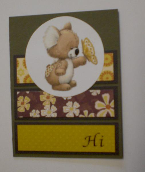 "Butterfly Koala ""Hi"" Card for OWH"