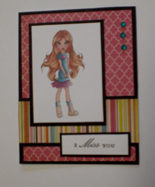 """Cuttlebug Cuties """"I Miss You"""" Card for OWH"""