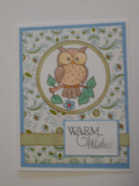 "Owl ""Warm Wishes"" Card for OWH"