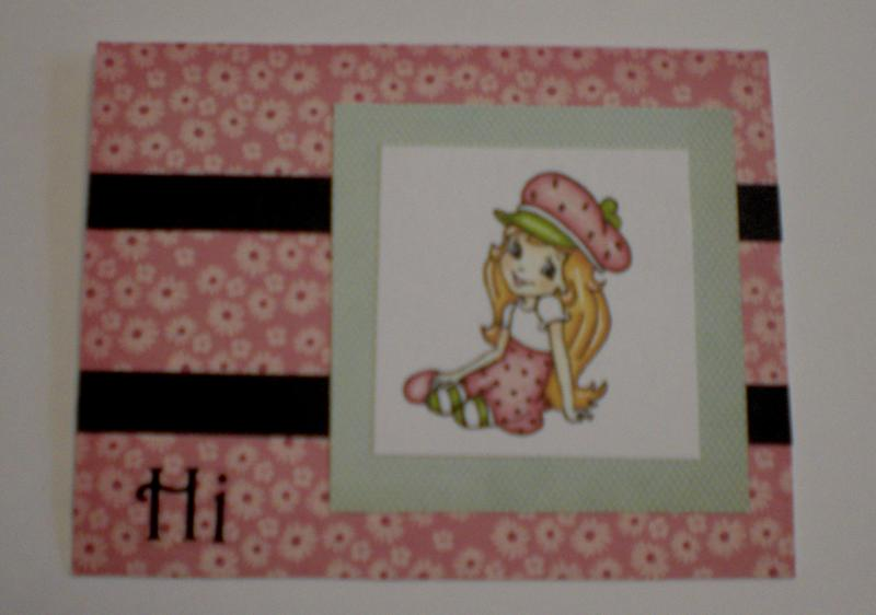 """Strawberry Girl """"Hi"""" Card for OWH"""