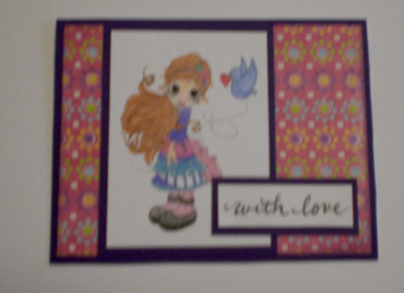 "Little Girl ""With Love"" Card for OWH"