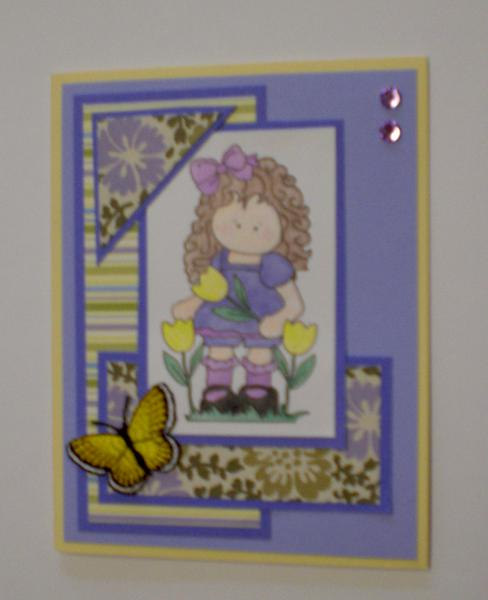 Spring Little Girl Card for OWH