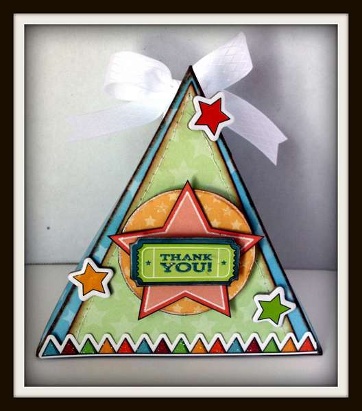 """""""3D Triangle Card"""" by Karen Taylor"""