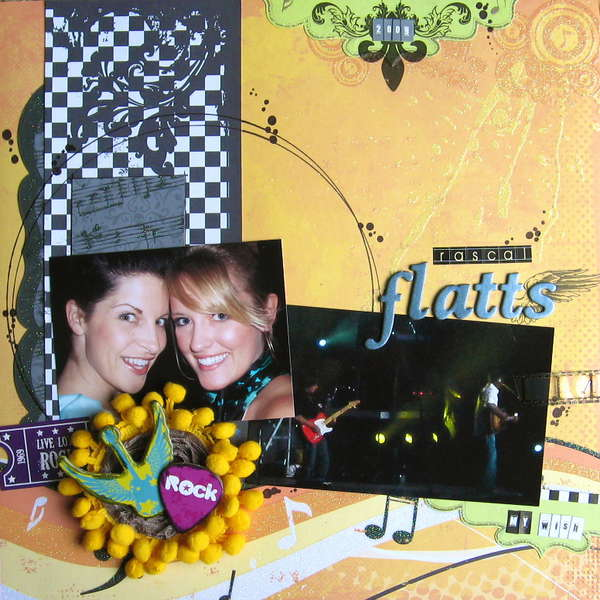 Rascal Flatts layout by Emily Branch