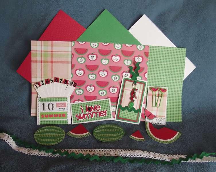 July Watermelon Page Kit