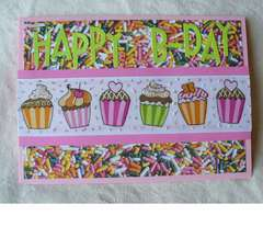 Sprinkles and Cupcakes B-Day Card