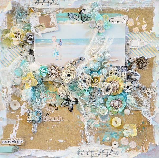 Take Me Away To The Beach *April Guest Designer Flying Unicorn*