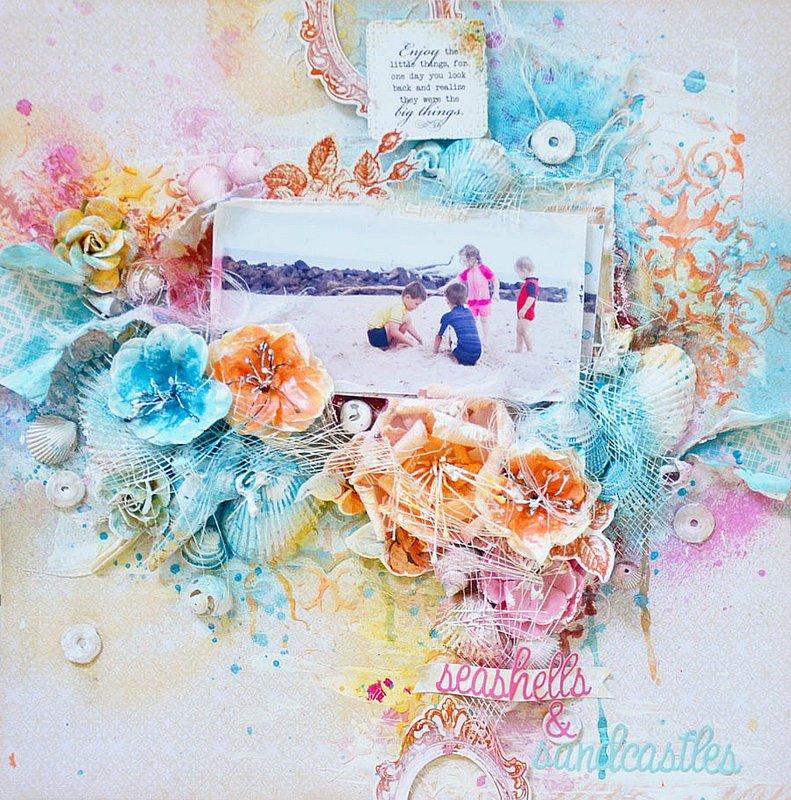 Seashells & Sandcastles *C'est Magnifique May Kit*