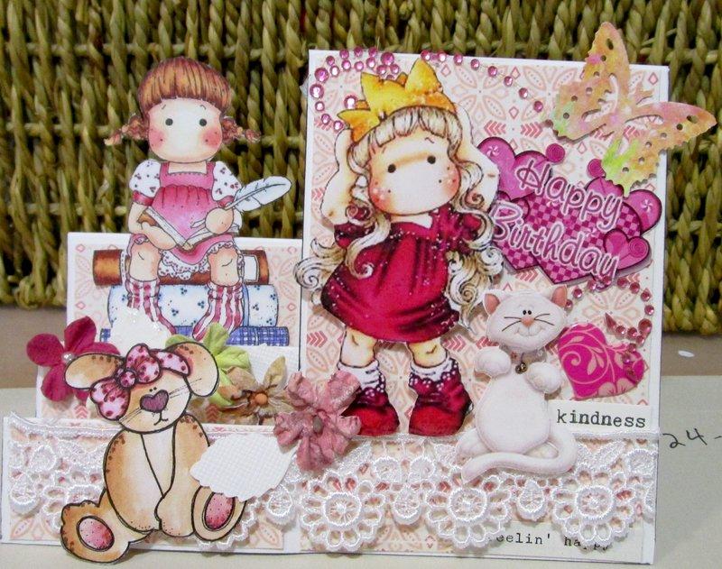 Magnolia girl's birthday card