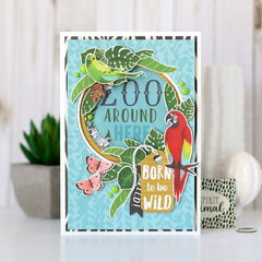 Safari shaker card