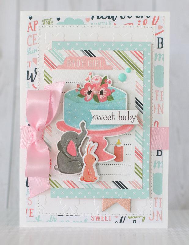 "Carta Bella ""Sweet baby"" card"