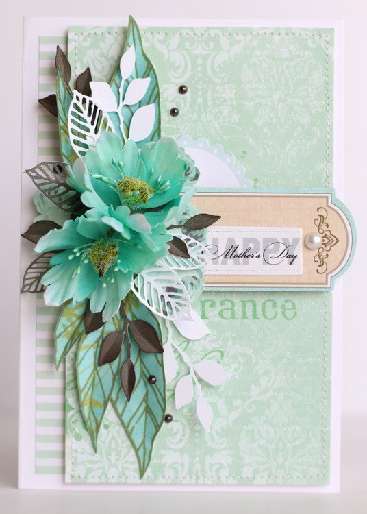 Birthday Card with Prima flowers