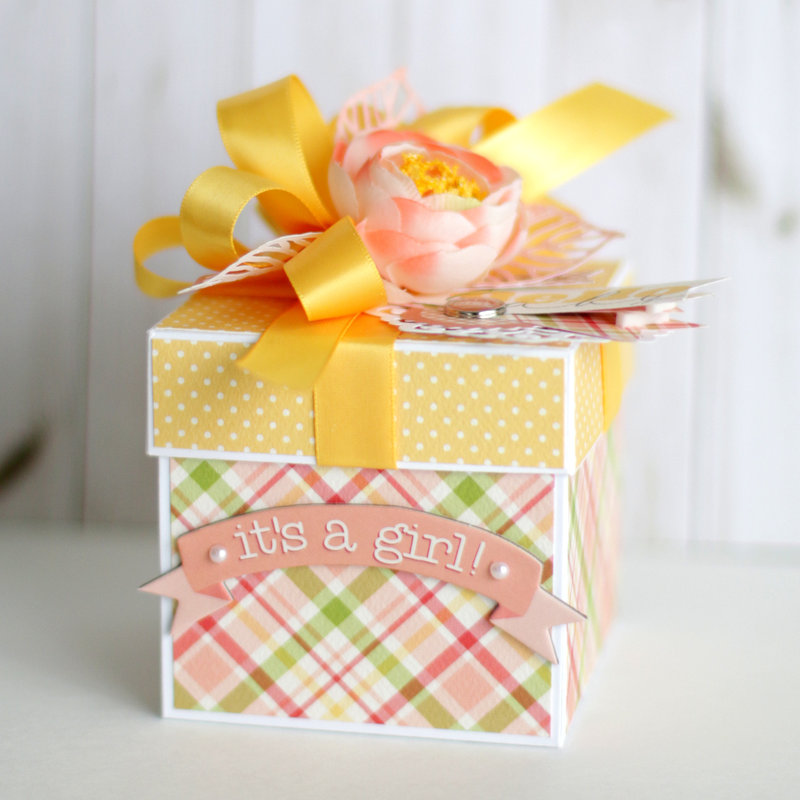 "Carta Bella ""It's a Girl"" Explosion Box"