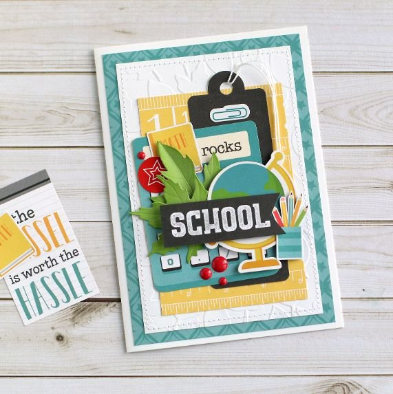"""School rocks"" card"