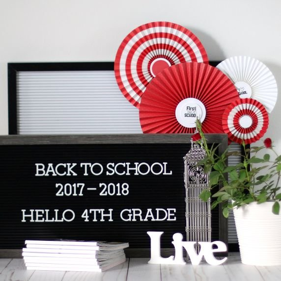 Back to school display