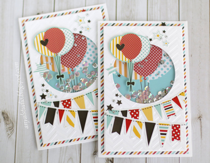 "Echo Park ""Magical Adventure"" shaker cards"
